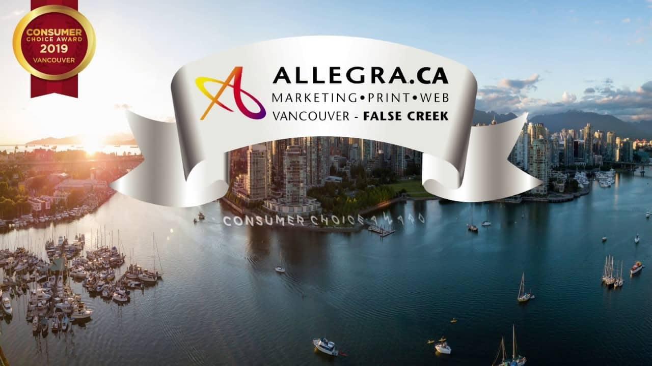Allegra Printing Vancouver Consumer Awards