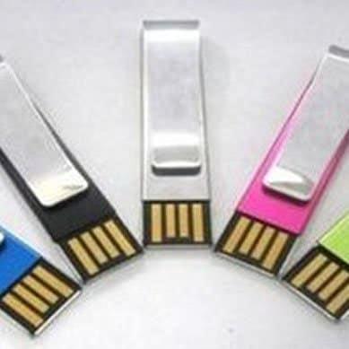 Metal Clip 2 GB USB Drive