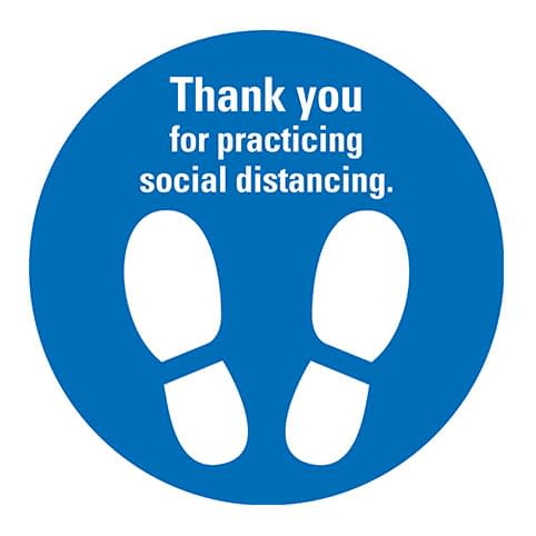 social distancing decal