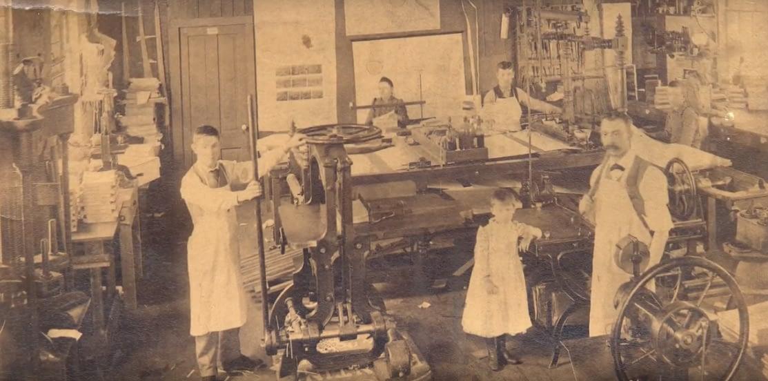 Inside old print shop - Pioneers of Vancouver Print