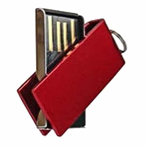 Mini Swivel Metallic Micro USB Drive 2GB