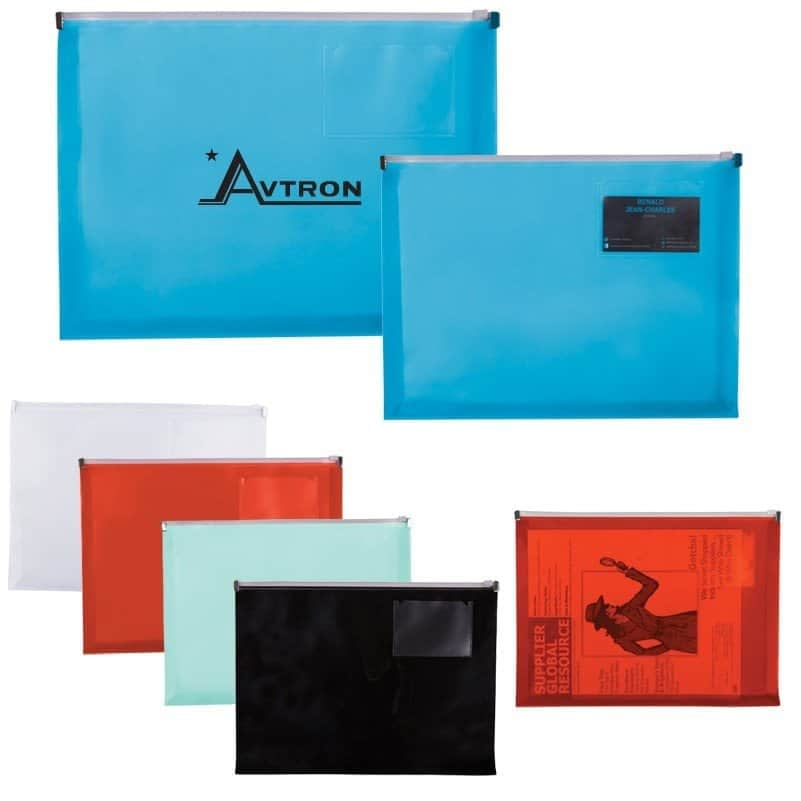 Zip Closure Envelope w Business Card Slot - Promotional Products
